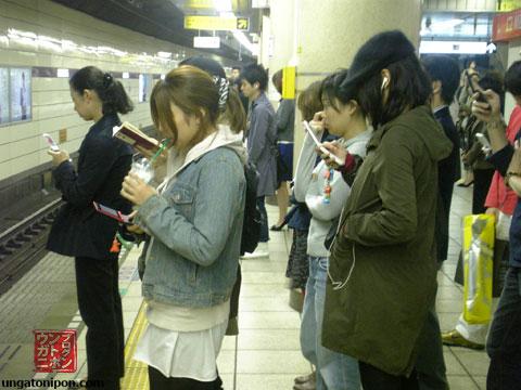 Móviles en el Metro