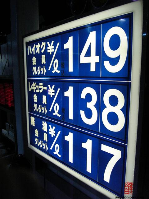 Precios de la gasolina en Japón