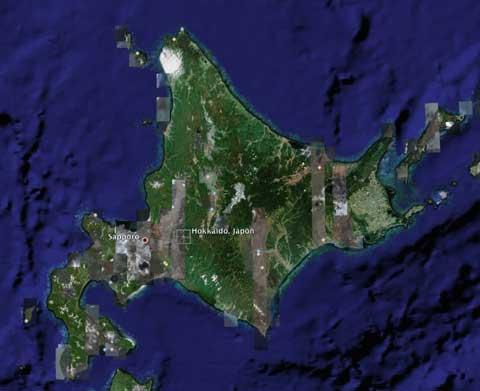 Hokkaido en Google Earth