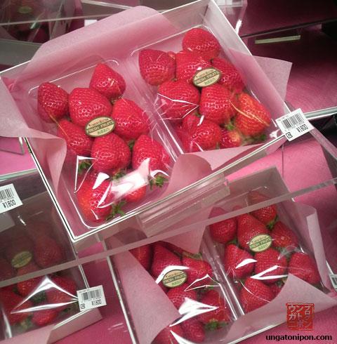 Fresas en Japón