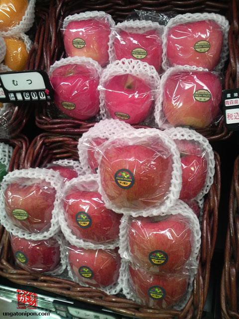 Manzanas en Japón
