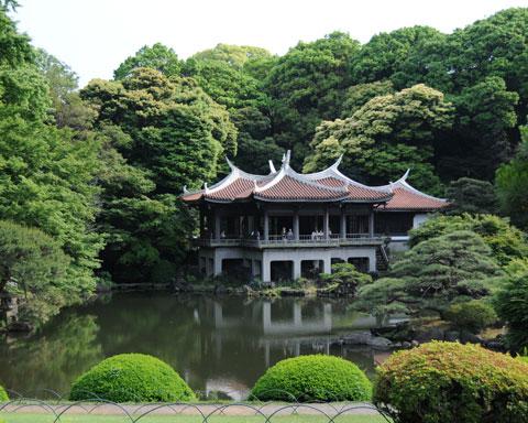 Casa taiwanesa en Parque de Shinjuku Gyouen
