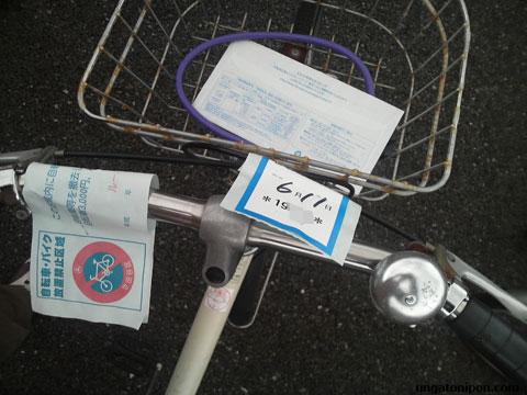 Multa en mi bici