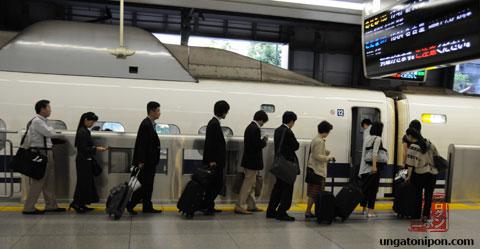 Cola en el Shinkansen