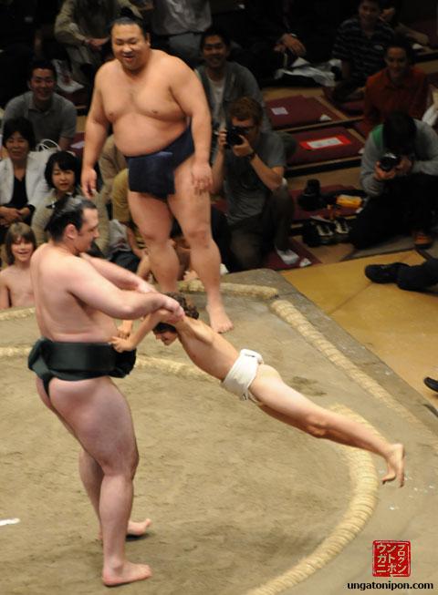 Luchadores de Sumo y niños Volando y tal