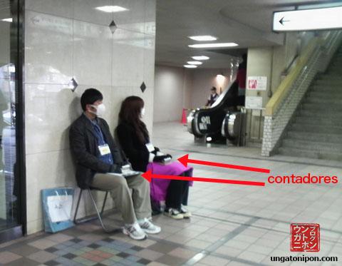 Contadores de personas en Japón