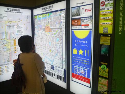 Mapa con acceso Suica en Tokio