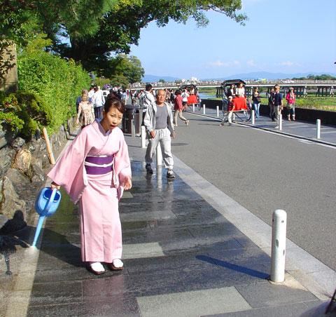 Uchimizu en Arashiyama