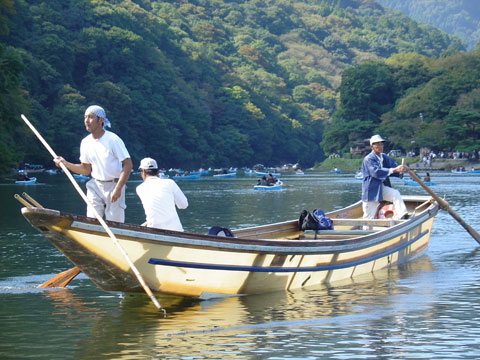 Bote de Arashiyama
