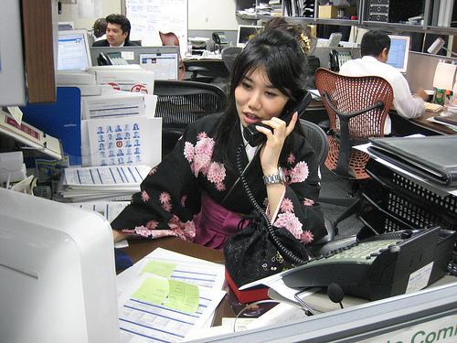 Mujer trabajando en Japón