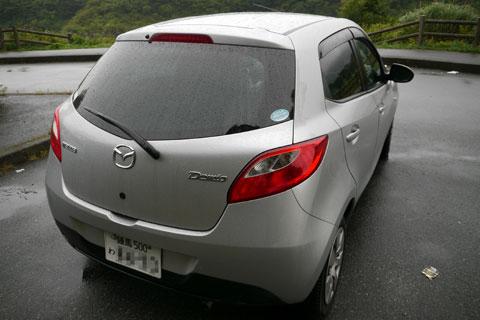 El Mazda Demio que alquilé