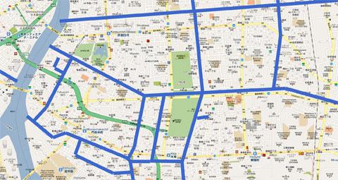 Canales que serpentean por Tokio