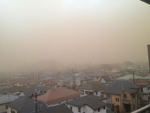 Tormenta de polvo en Saitama