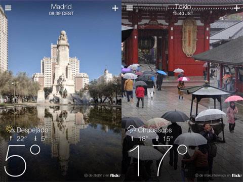 El Tiempo en Madrid y Tokio