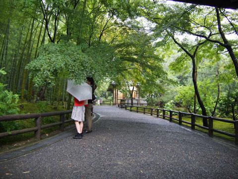 Salida norte del Jardín de Tenryuji