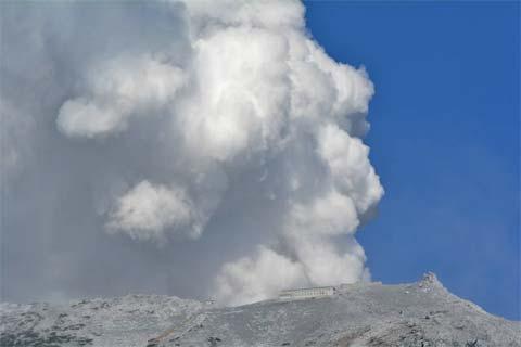 Erupción en el Mt. Ontake