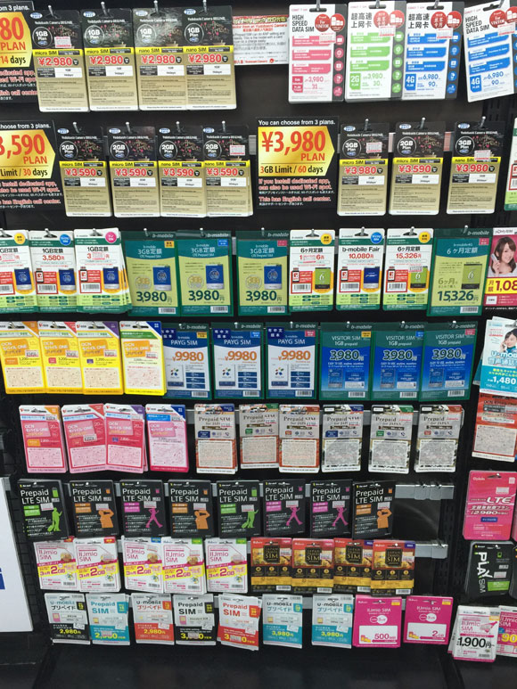 Tarjetas prepago en Japón