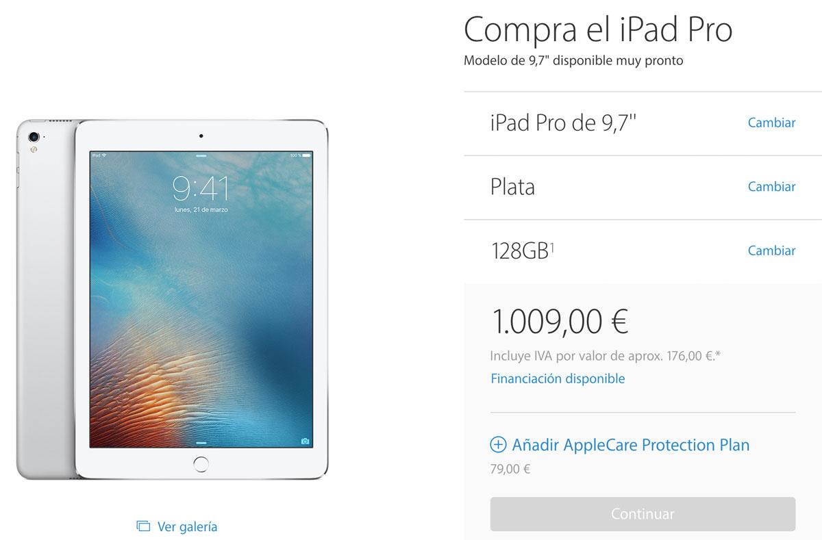 iPad Pro español más barato