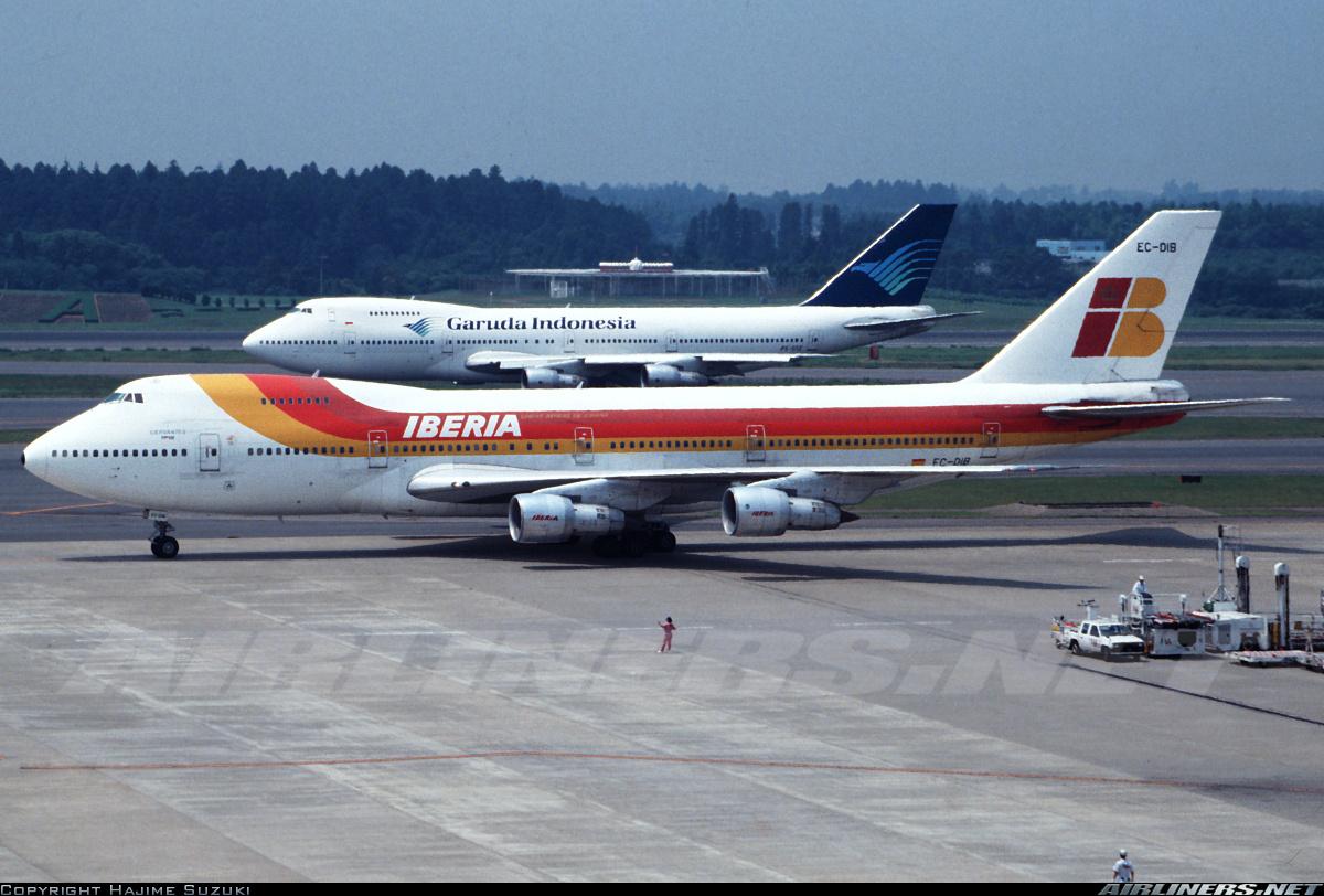 Un B747 de Iberia en Narita