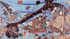 Heikegani en una xilografía ukiyo-e Utagawa Kuniyoshi.