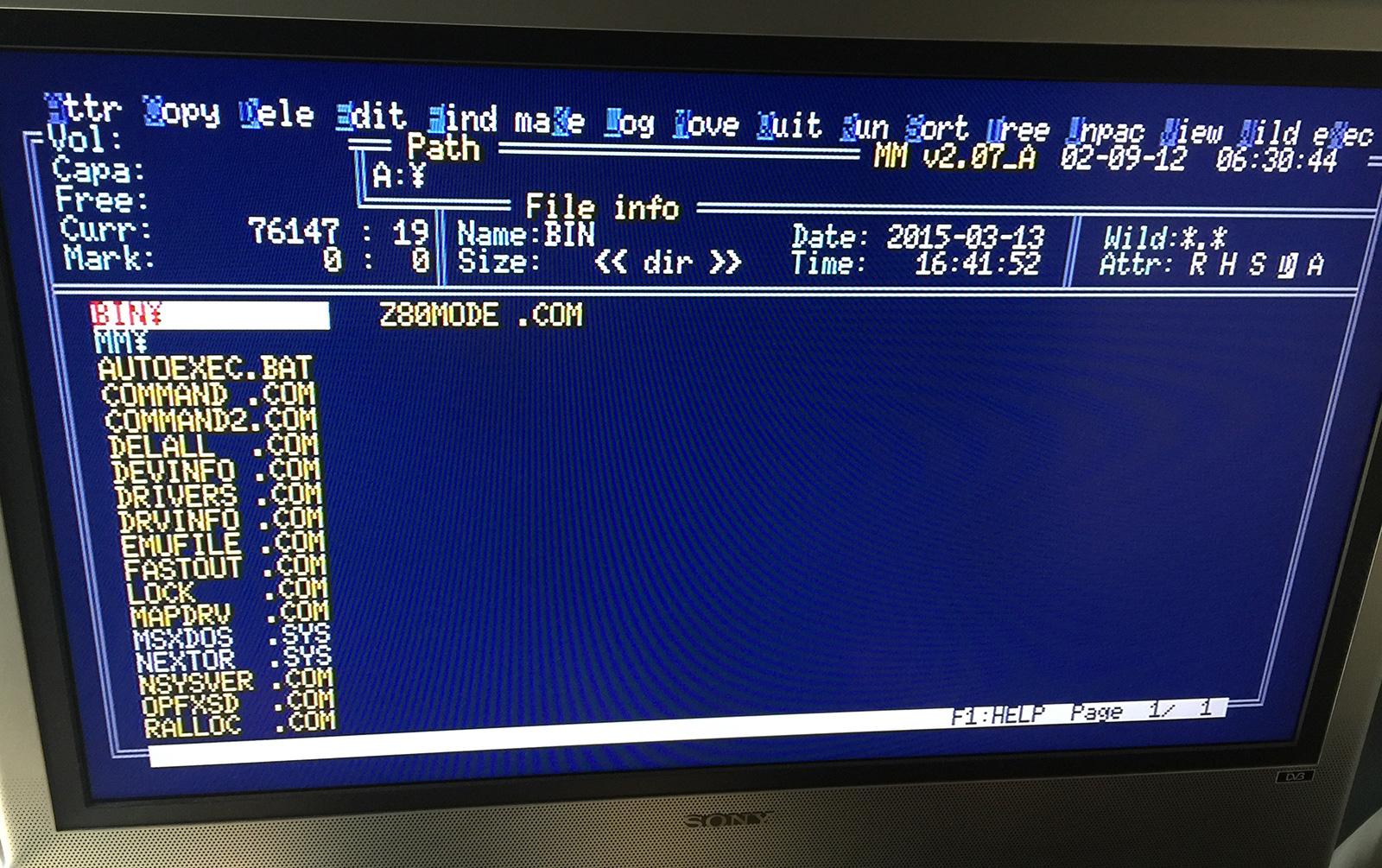 Nextor, para administrar archivos y el cartucho MegaFlashRom fácilmente.