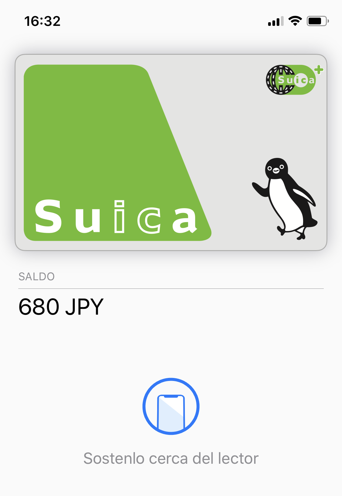 Suica en el iPhone con 680 yen