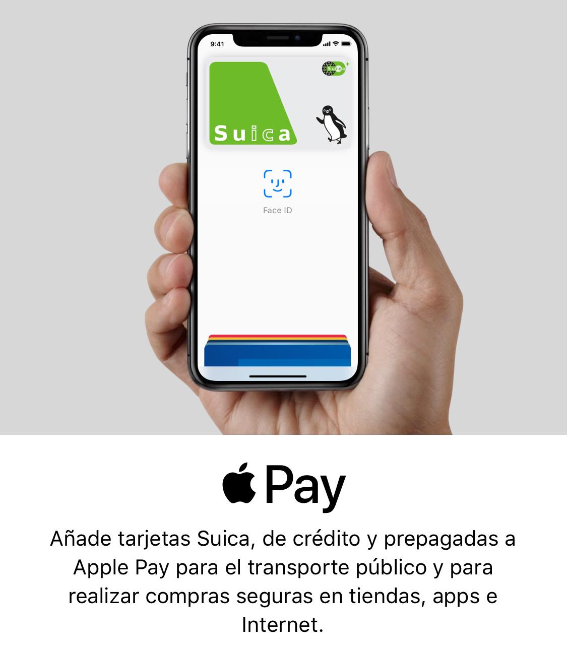 Añadiendo una tarjeta Suica al iPhone