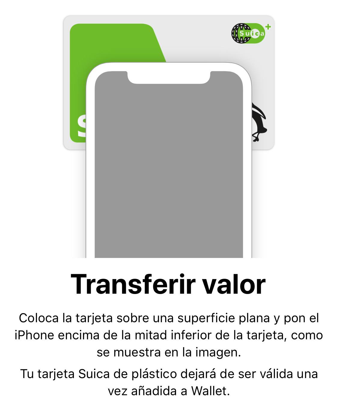 Poner el iPhone sobre la tarjeta Suica