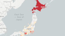 Mapa del Corona virus en Japón