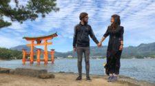 Pili y Carlos en Miyajima