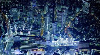 Vistas de Shinjuku por la noche