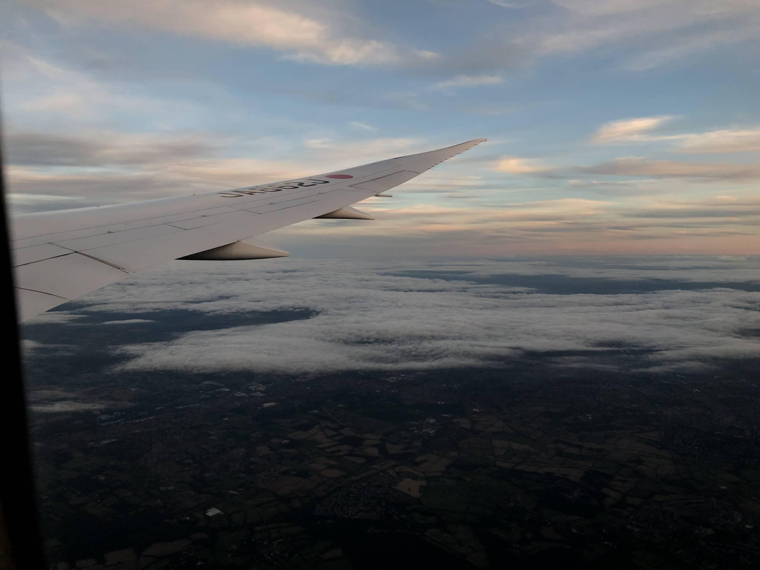 Volando en un B787 de Londres a Tokio