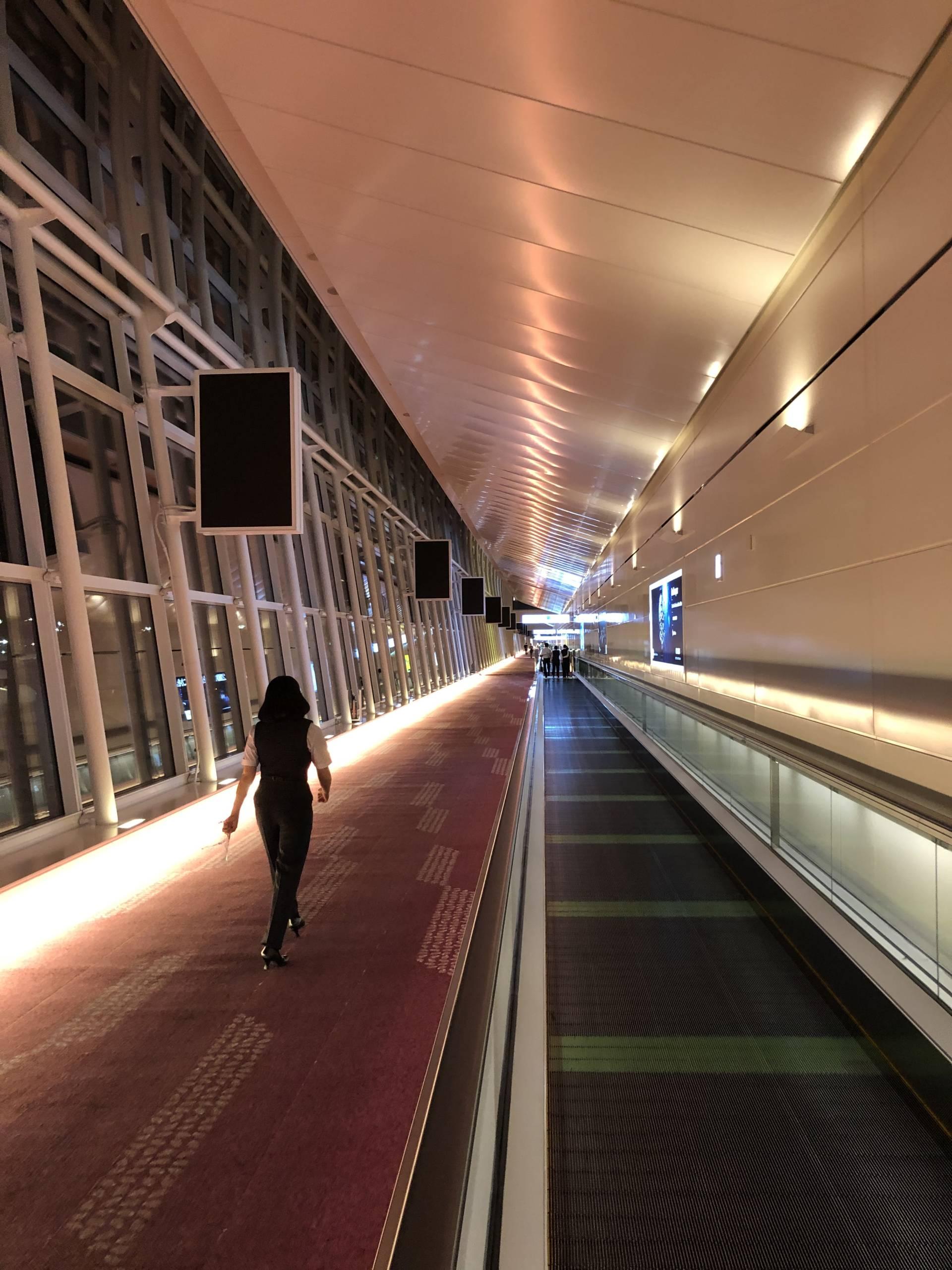 Aeropuerto de Haneda casi vacío durante la pandemia