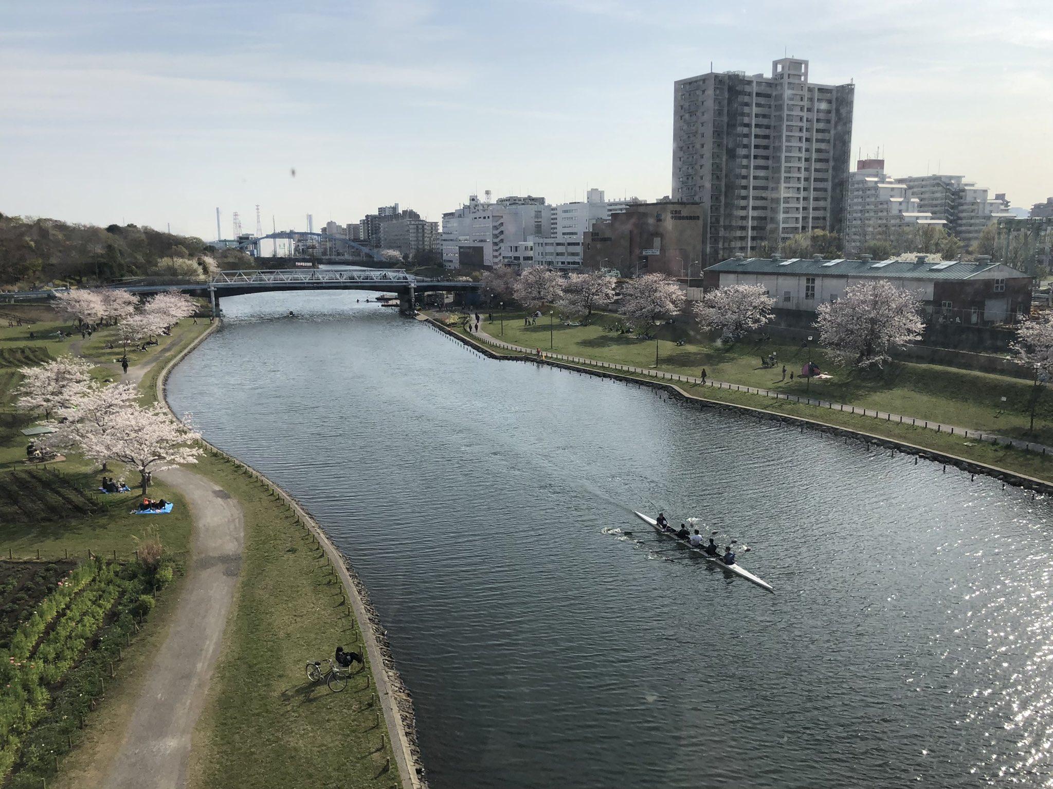 Río Kyu-Nakagawa en abril de 2021